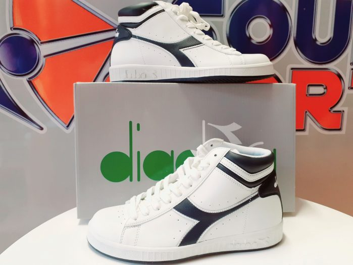 Scarpa Diadora Game P.  High colore Bianco Blu Denim